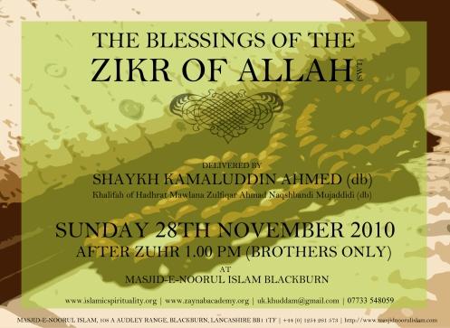 Blessing of Zikr of Allah